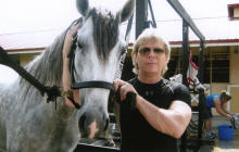 Dr. Steve Stewart and a Horse